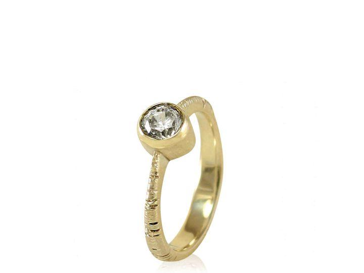 Tmx 1476472823190 Tapered Band  Full Bezel Aspen Moissanite Engageme Sebastopol wedding jewelry