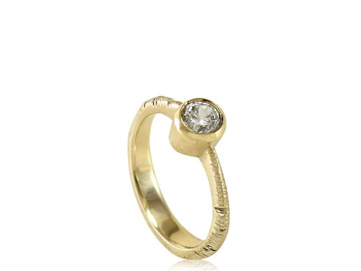 Tmx 1476472845385 Tapered Band  Full Bezel Aspen Moissanite Engageme Sebastopol wedding jewelry