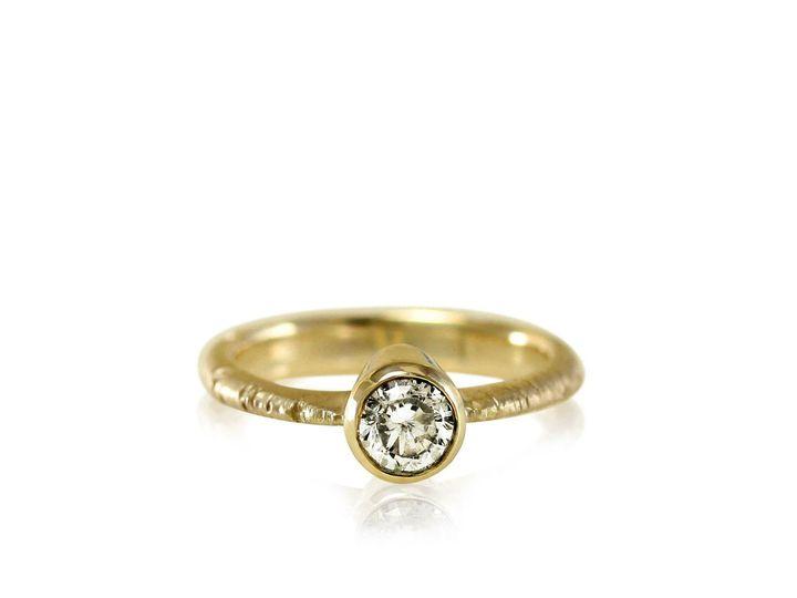 Tmx 1476472861033 Tapered Band  Full Bezel Aspen Moissanite Engageme Sebastopol wedding jewelry