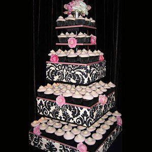 Tmx 1337643635392 Blkandpinkcupcakes Temecula wedding cake