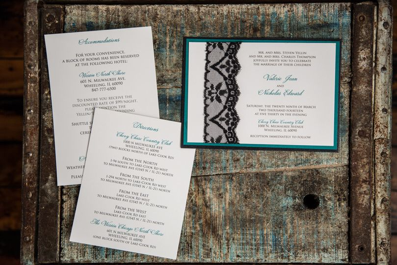 Peacock Printing Invitations Rochester Ny Weddingwire