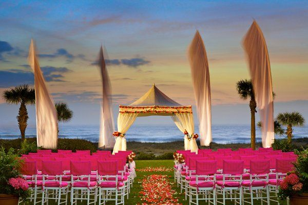 Wedding Ceremony on The Ocean Front Lawn
