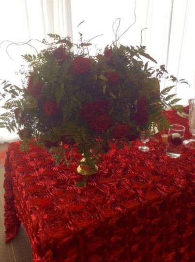 Red table linens