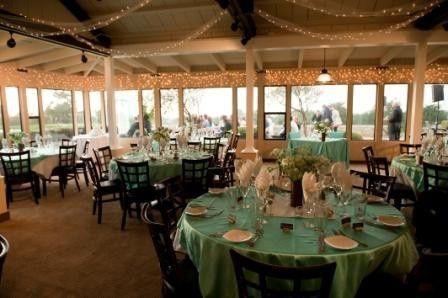 Green table decor