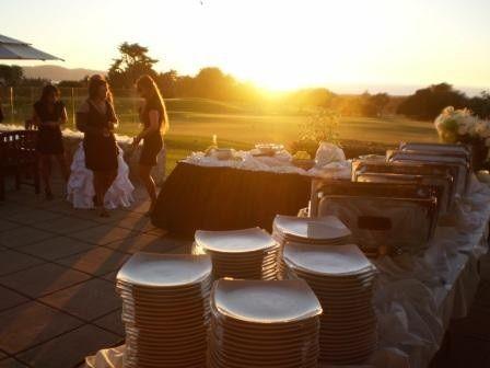 A sunset wedding
