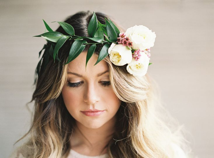 Bride with a flower crown