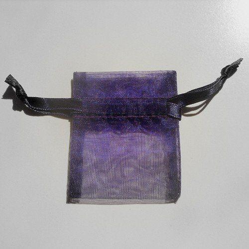 "Dark ""Purple velvet"" organza favor bags for rice or birdseed."