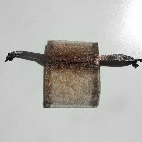 DDarkbrownchocolateorganzasilkgiftbags2x2