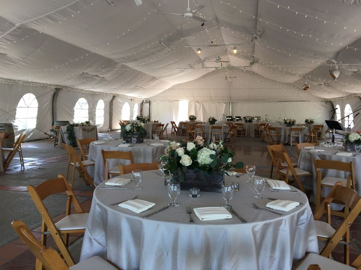 Under the tent at Orfila Winery
