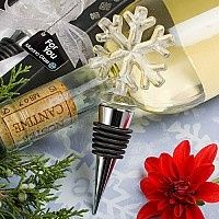 Murano Glass Collection Snowflake Design Wine Bottle Stoppers