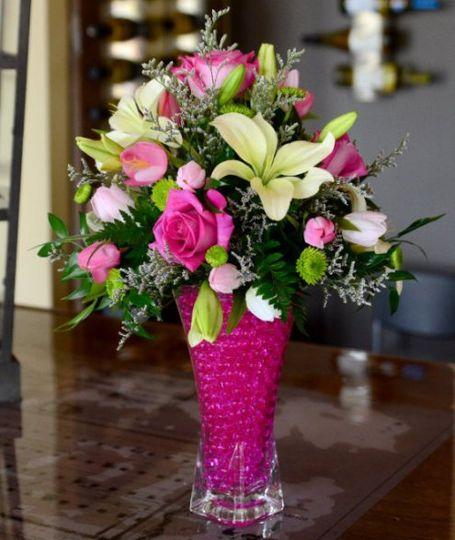 Wedding Wire Flowers: Rainbow Water Beads