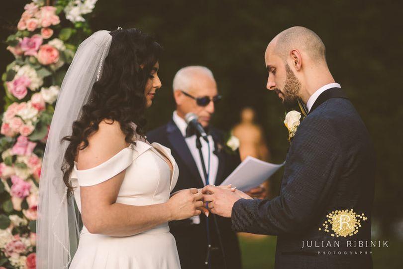 Bride and Groom Tuscan Garden