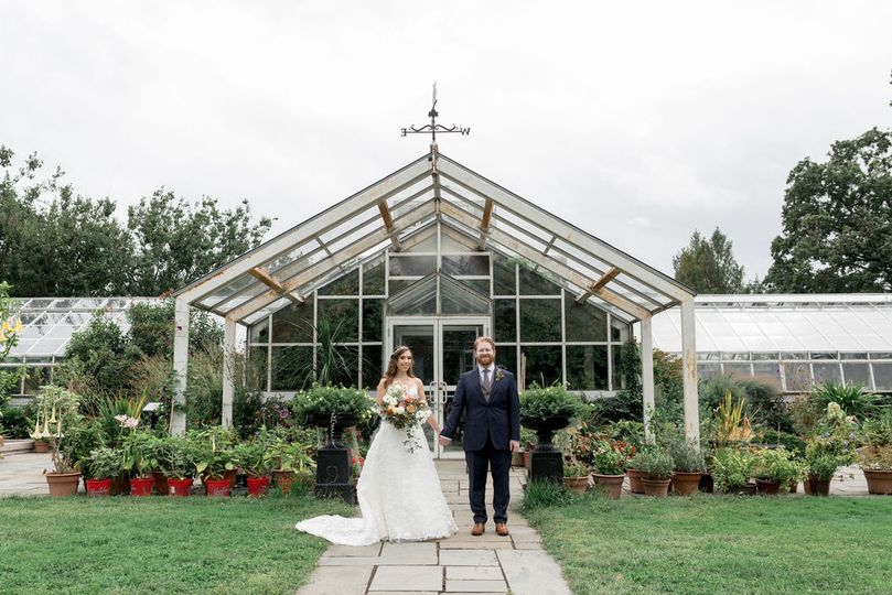 Bride and Groom on the Grounds