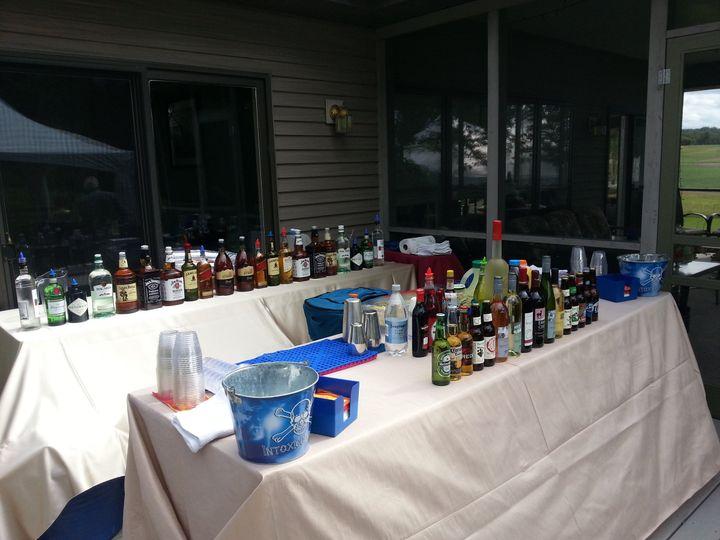 Backyard wedding set-up for 200 people