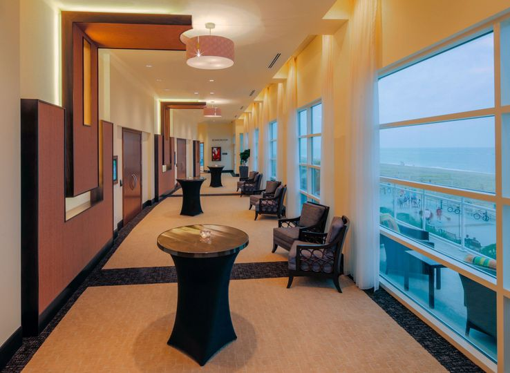 Ocean view pre-function area