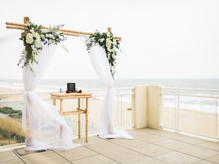 Tmx 1499961234675 Sundeck With Bamboo Arch And Sand Ceremony Virginia Beach, VA wedding venue