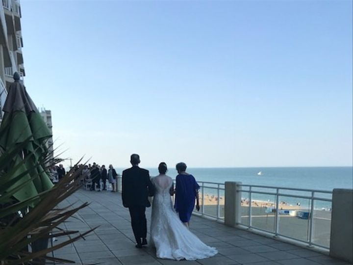 Tmx Bride Escorted By Her Parents 51 678462 Virginia Beach, VA wedding venue