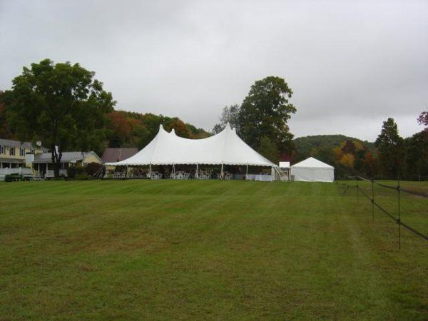 The expansive and beautiful backyard of the Inn provides a perfect location for tents - there were...