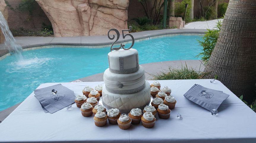 Cake in the garden