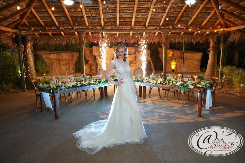 Reception with flares