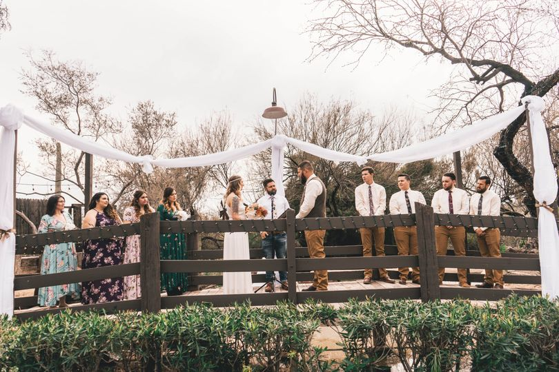 Ceremony on the bridge