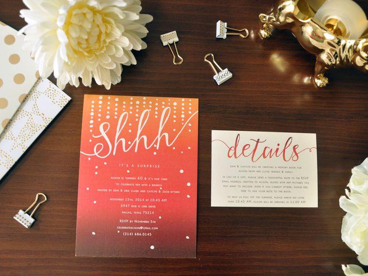 Tmx 1452103695794 Alisonhannahbirthday Chapel Hill wedding invitation