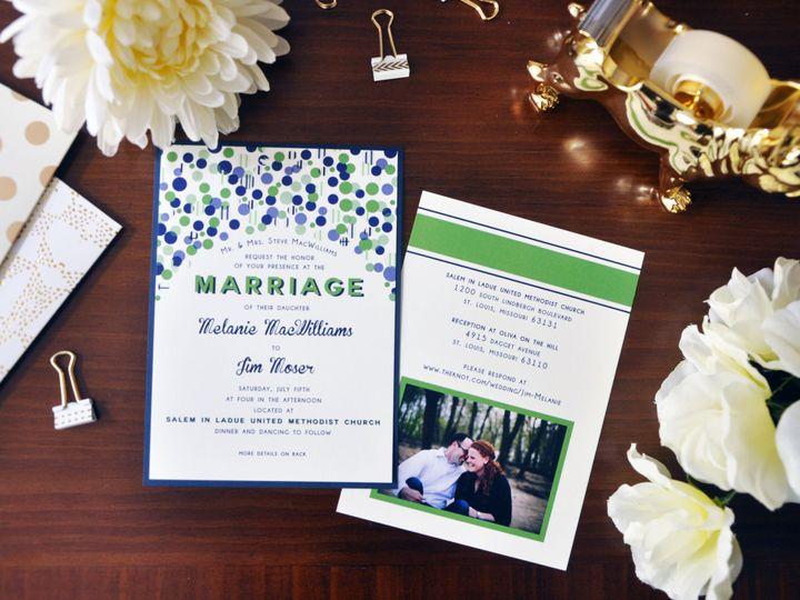 Tmx 1452103885327 Melaniejiminvitation Chapel Hill wedding invitation