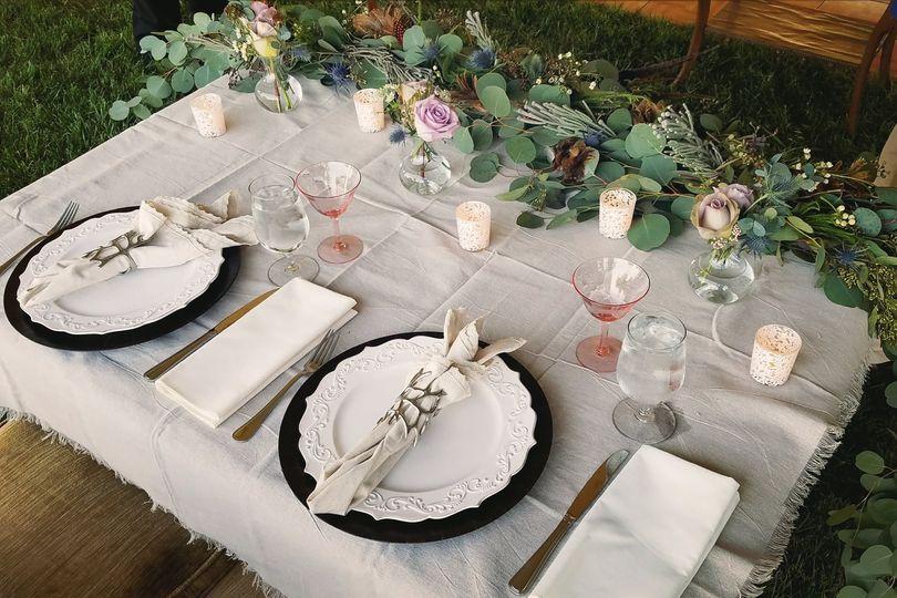 Sweetheart table setup