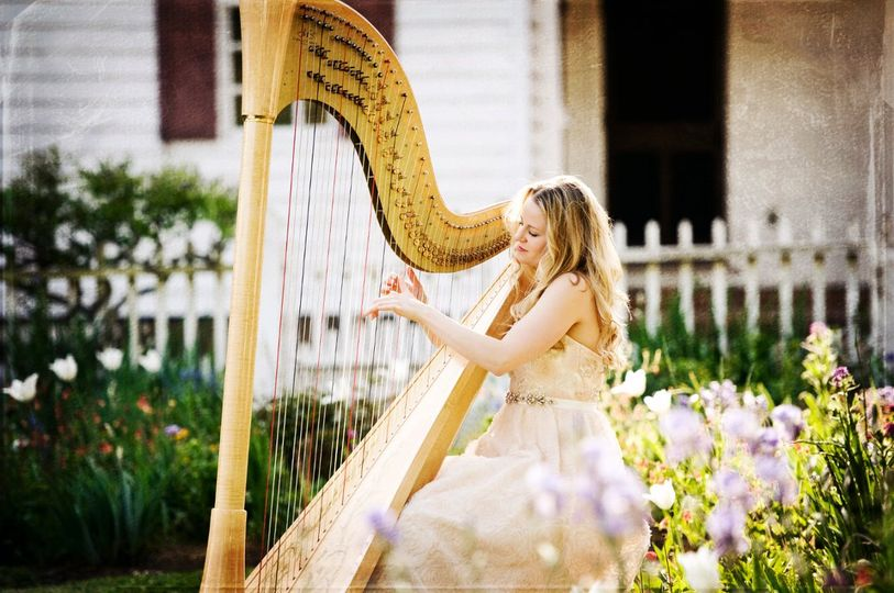 Diana playing the harp