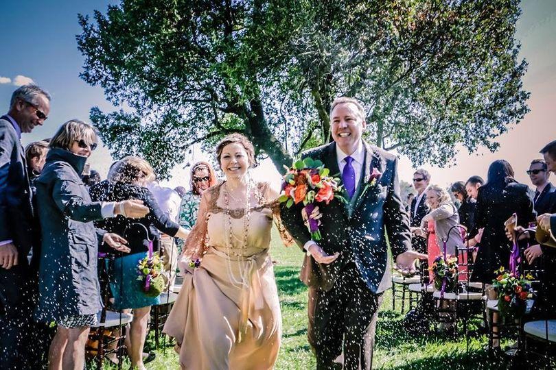 Joyous wedding recessional