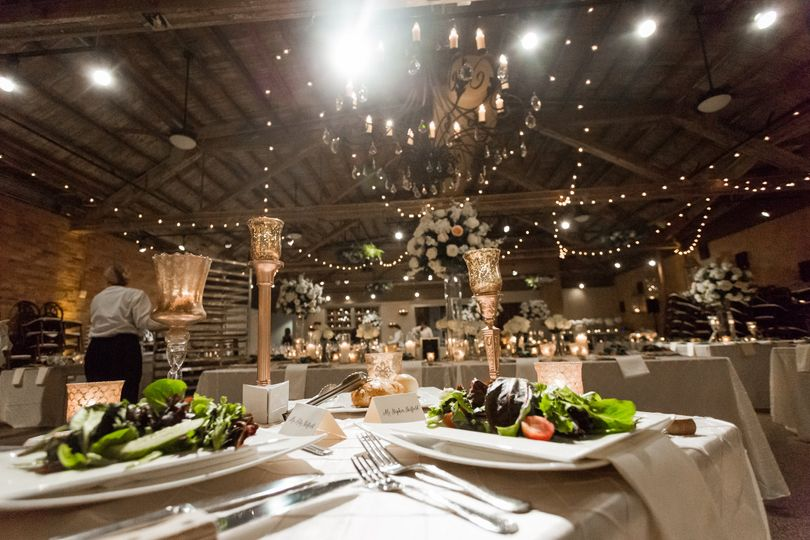 Table setting and reception lighting