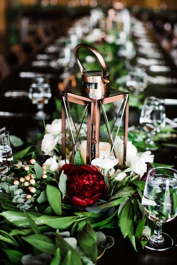 Floral decor and centerpiece