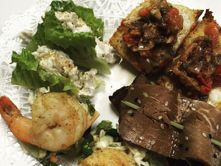Tmx 1444927146579 Asian Shrimp Crab Lettuce Wraps Sb Bruschetta Beef Lansdale, Pennsylvania wedding catering