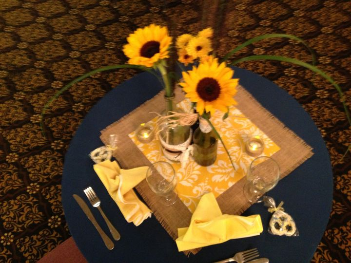 Tmx 1444927846830 Yellow And Blue Sweetheart Table Lansdale, Pennsylvania wedding catering