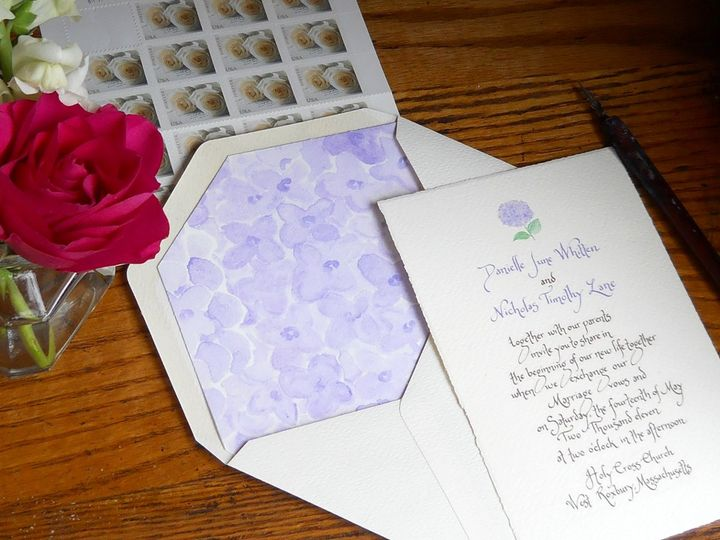 Tmx 1357735462003 Purplehydrangea Greenland wedding invitation
