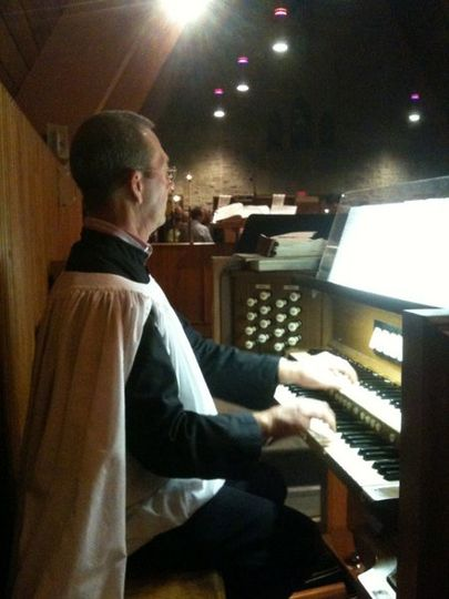 This is the organist at Grace Episcopal church in Kirkwood, Missouri.  He is fantastic!