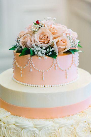 Beautiful cake in pink