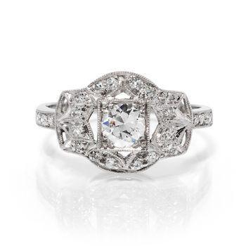 Tmx 1425585688540 Artdeco Platinum Ring Modesto wedding jewelry