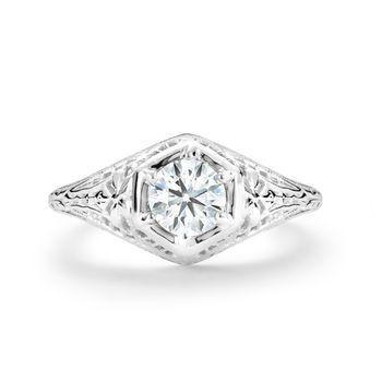 Tmx 1425585699516 Vintage .50ct Diamond Filigree Ring Modesto wedding jewelry