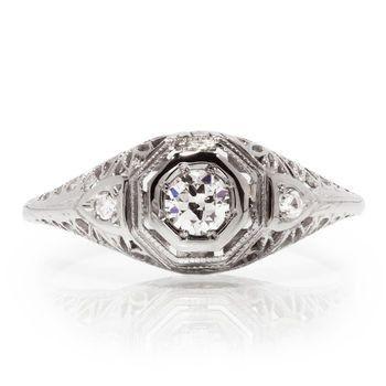 Tmx 1425585761739 Vintage Diamond Engagement Ring Modesto wedding jewelry
