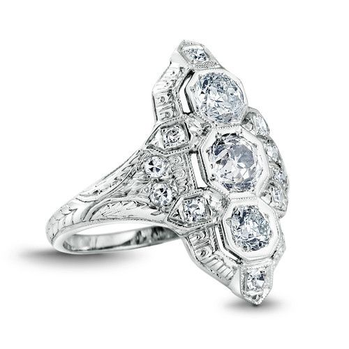 Tmx 1425585770814 Vintage Diamond Ring Modesto wedding jewelry