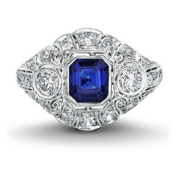 Tmx 1425585777524 Vintage Sapphire Ring Modesto wedding jewelry