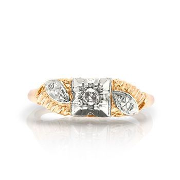 Tmx 1425585781872 Vintage Yellow Gold Dainty Wedding Ring Modesto wedding jewelry