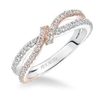 Tmx 1425587217577 Artcarved   Rose Gold  White Gold Diamond Band Modesto wedding jewelry