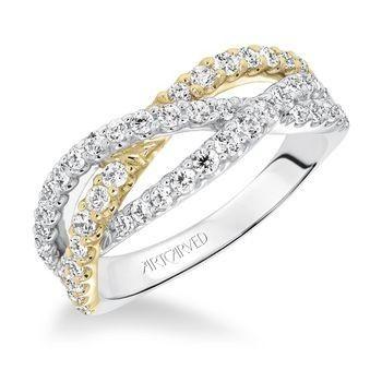 Tmx 1425587232532 Artcarved   Yellow Gold  White Gold Diamond Band Modesto wedding jewelry