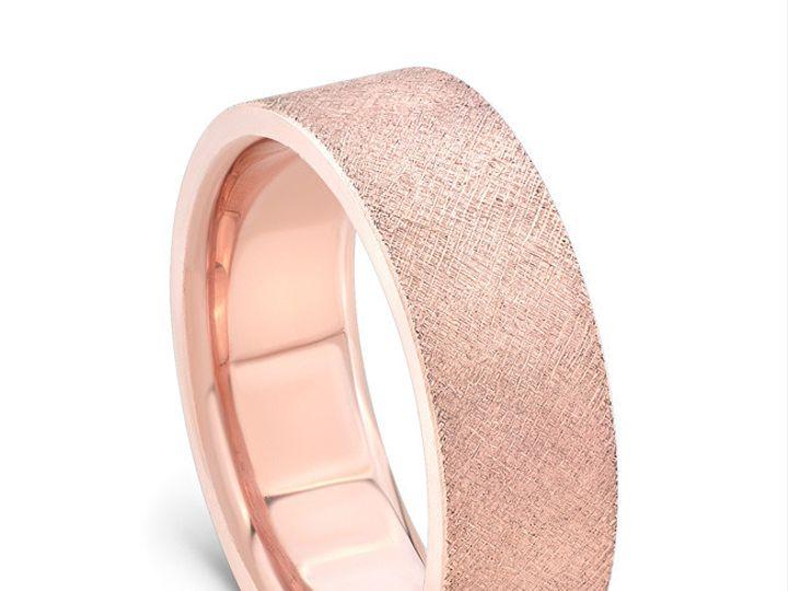 Tmx 1443639577182 Yates082115rosegoldbandcrosshatchstandingangle Modesto wedding jewelry