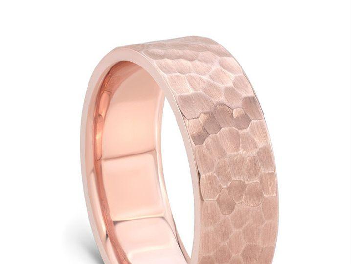 Tmx 1443639586162 Yates082115rosegoldbandhammerstandingangle Modesto wedding jewelry