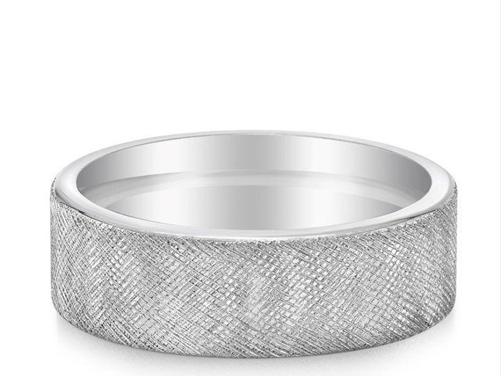 Tmx 1470337932949 Yates082115palladiumbandcrosshatchfrontlaying Modesto wedding jewelry