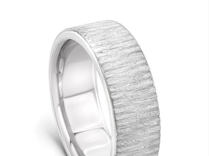 Tmx 1470338063618 Yates082115palladiumbandtreebarkstandingangle Modesto wedding jewelry