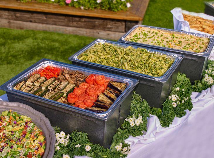 Roast vegetables and signature pasta